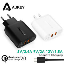 AUKEY Dual USB Wall Quick Charger QC2.0 Portable Phone Charger 36W Fast Charger