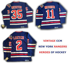 BRIAN LEETCH NEW YORK RANGERS JERSEY VINTAGE THROWBACK SIZE LARGE HOME / AWAY