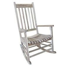 Solid Wood Rocker Chair Porch Rocking Patio Outdoor Unfinished Classic Style
