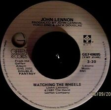 John Lennon-Watching the Wheels/Yoko Ono-Yes,I'm Your Angel45Orig.'80Geffen(NM)!