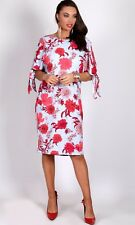 TEABERRY Split Sleeve Floral Loose Fit, Dress Blue/Red BNWT 10, 12, 14 16 18