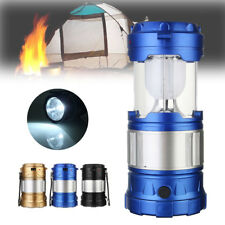 Rechargeable 3W Solar LED Flashlight Power Camping Tent Light Torch Lantern Lamp