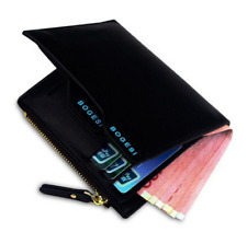 BOGESI Men Purse Wallet With Card Leather Small Wallets Zipper Card Holder Coins