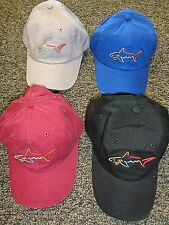 NEW Greg Norman SHARK Golf Hat Cap, PICK COLOR, Adjustable, Cotton, Lightweight