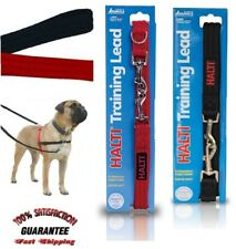 Halti Dog Puppy Training Lead Head Collar Red Black Multi Function Double Ended