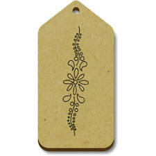 'Floral Pattern' Gift / Luggage Tags (Pack of 10) (vTG0013995)