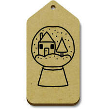 'Snowglobe With House' Gift / Luggage Tags (Pack of 10) (vTG0015636)
