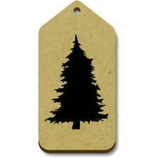 'Silhouetted Pine Tree' Gift / Luggage Tags (Pack of 10) (vTG0014909)