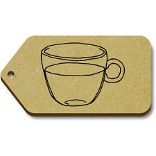 'Clear Teacup' Gift / Luggage Tags (Pack of 10) (vTG0018187)