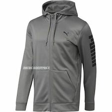 PUMA NEW MENS PROSPECT FLEECE HOODIE FULL ZIPPER SWEATSHIRT NWT GRAY RETAIL $60.