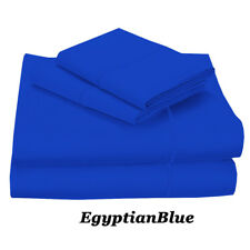 BRAND NEW US BEDDING COLLECTION ITEMS - 1000 TC 100% EGYPTIAN COTTON BLUE SOLID