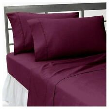 BRAND NEW US BEDDING COLLECTION ITEMS - 1000 TC 100%EGYPTIAN COTTON WINE SOLID