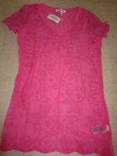 Aeropostale Womens Lace Embroidery V-Neck  Shirts  Pink/Green  S/L/XL- NWT $30