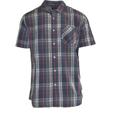 New Rip Curl Standard Fit Plaide Checked Woven S/S Button Shirt