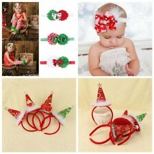 Baby Infant Girls Christmas Bow Bowknot Headband Turban Flower Hair Accessories