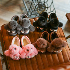 New Toddler Baby Girls Warm Cotton Slipper Kid Girl Cute Indoor Shoes Soft Plush