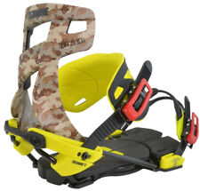 BRAND NEW TECHNINE CAMO NINER SNOWBOARD BINDINGS CAMO/YELLOW MEDIUM LARGE