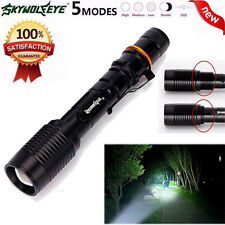Adjustable Focus Flashlight 4000LM CREE XM-L T6 LED Zoom 5 Mode Torch Light Lamp