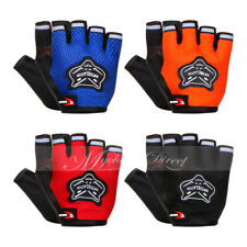 Men Cycling Gloves Bike Half Finger Bicycle Gel Padded Fingerless Outside Sports