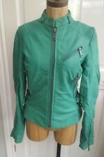Diesel Womens Leather Jacket Green L- Astrid - new with tags