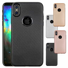 Shockproof Protective Ultra Thin Carbon Fiber Soft TPU Case Cover for iPhone X 8