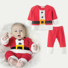 Toddler Baby Boys Santa Claus Top Pants Christmas Outfits Costume Xmas Suits