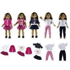 Clothes for 18'' American Girl Doll Pleated Dress Skirt Jeans Jacket Outfit Coat