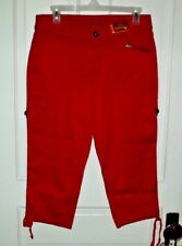 New Red Faded Glory Women's Cargo Capri Pants