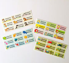 72 Colourful Fun-designed Children Personalised Stick On Name Labels Stickers