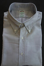NWOT Brooks Brothers Gray Oxford Cloth Button Down Ex Slim Fit Milano MSRP $140