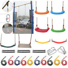 Kids Adult Outdoor Playground DIY Swings Set Toy Seat Rope Straps Connector Accs