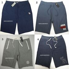 ABERCROMBIE & FITCH NEW MEN'S ATHLETIC SHORTS NWT BY HOLLISTER BLUE NAVY GRAY