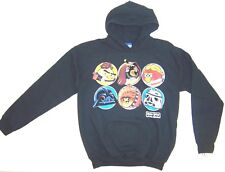 BOYS ANGRY BIRDS HOODIE SWEATSHIRT BLACK SIZE YOUTH LARGE STAR WARS NWT