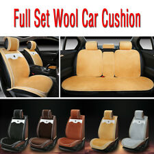 PU Leather & Sheepskin Wool Full Set Car Seat Cover Cushion Pad For Airbag Safe