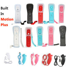 Built in Motion Plus Remote Nunchuck Controller Case For Nintendo Wii &Wii U uer