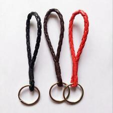 10x Fashion Braided Leather Cord Key Chain Car KeyChain Key Ring Key Accessories