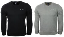 New Nike Mens Crew Neck Sweatshirt Crew Top Sweater S M L XL Black Gray