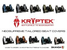 Coverking Kryptek Camo Neosupreme Seat Covers with Black Sides for Ford Mustang
