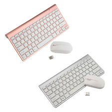 Mini 2.4G Ultra Slim Thin Wireless Desktop Keyboard and Mouse Combo w/ Receiver