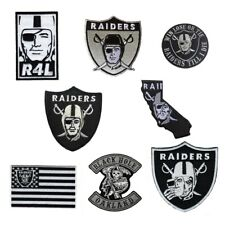 NFL Oakland Raiders Logo High Quality Embroidered Iron on Patches - FREE SHIP