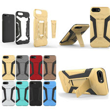 Hot Shockproof Hybrid Armor Hard Bumper Case Kickstand For Samsung Huawei LG New