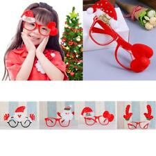 Christmas Ornaments Santa Antlers Glasses Frames Evening Party Toy Kid Xmas Gift