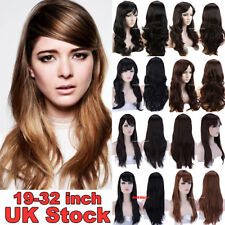 Fashion 60/80/100Cm Long Hair Cosplay Full Wig Natural Curly Wave Straight Hair