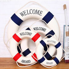 Hanging Life Ring Nautical Life Preserver Lifebuoy Boat Wall Hanging Home Decor