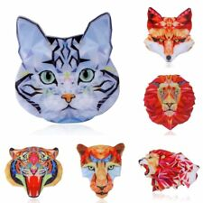 Fashion Woman Printing Animal Cat Tiger Wolf Lion Tiger Brooch Pin Jewelry Gifts