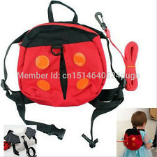 Ladybug Bat Baby Toddler Kid Safety Harness Anti lost Backpack Strap Keeper Bag