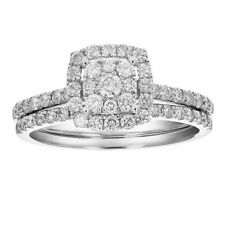 1 CT Diamond Prong Set Wedding Engagement Ring Set 14K Gold