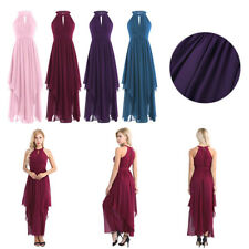 Dress Bridesmaid Formal Long Evening Chiffon Gown Prom Women Party Ball Cocktail