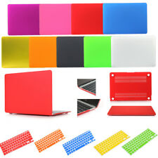 """Rubberized Case Shell+Keyboard Cover For MacBook Air Pro Retina 11"""" 12"""" 13"""" 15"""""""