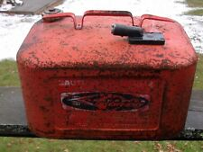 VINTAGE MERCURY RED METAL GAS TANK / OUTBOARD BOAT MOTOR FUEL TANK / GAS CAN